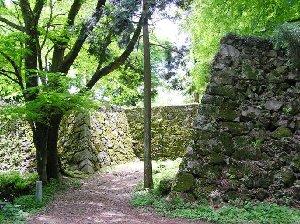 夏の高取城