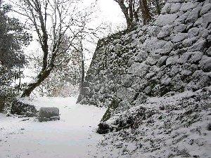 冬の高取城